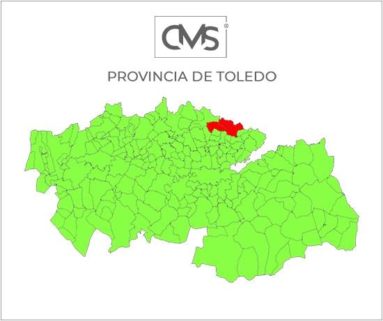 Zonas de Toledo en las que trabajamos