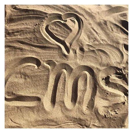logo cms escrito en la arena